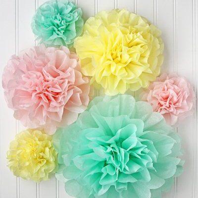 Tissue Pom-Poms
