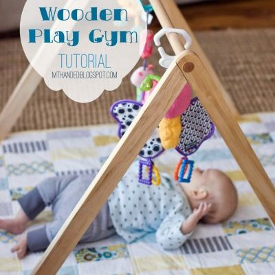 wooden play gym tutorial