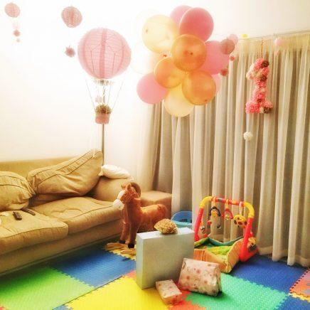 hot air balloons, 1st birthday