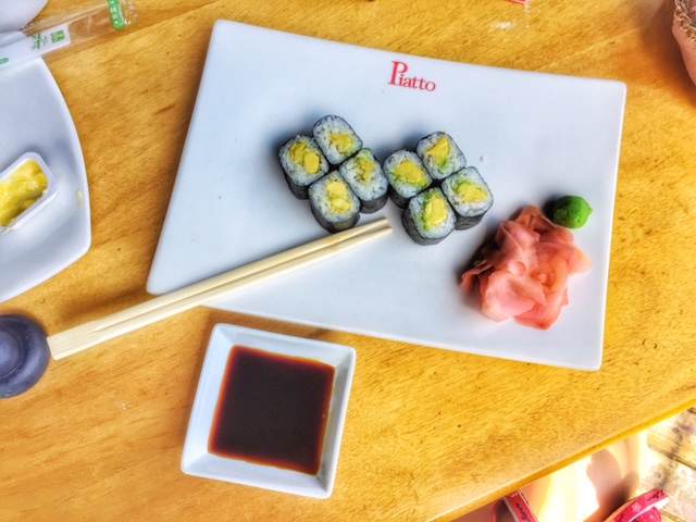 avocado rolls, japanese cuisine