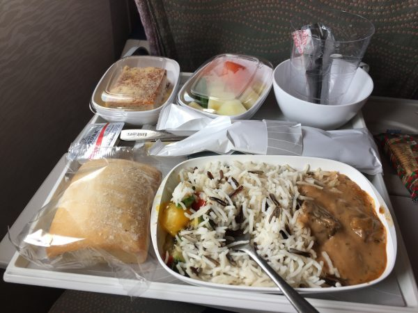 lunch on the emirates plane