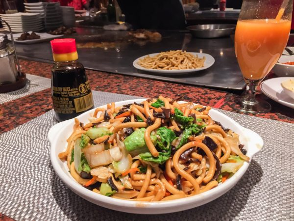 asian noodles with veggies