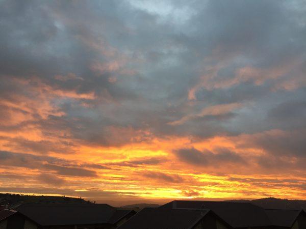 south african sunset, summer